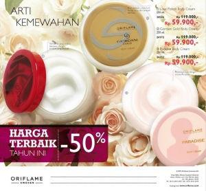Body Cream Love Potion, Body Cream Paradise, Body Cream Giordani Gold, Body Cream Oriflame